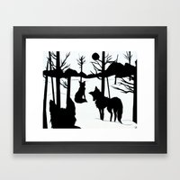 on a cold night Framed Art Print