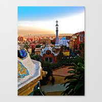 Barcelona - Gaudí's Par… Canvas Print