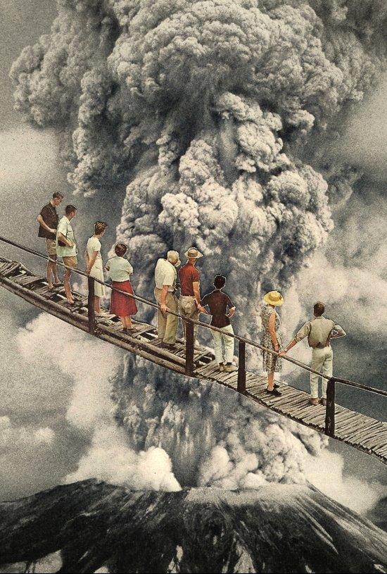 the eruption... Canvas Print