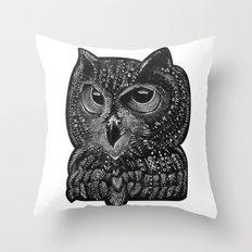 Cool owl Throw Pillow