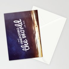 HE has overcome the world Stationery Cards