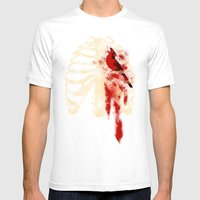 Bird Heart Mens Fitted Tee White SMALL