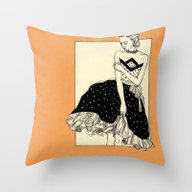 Throw Pillow featuring Vintage Lady#2 by Annike