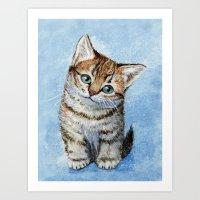 Sweet Tabby Kitten Art Print