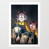 Breaking Morty Art Print