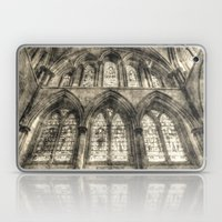Rochester Cathedral Stained Glass Windows Vintage Laptop & iPad Skin