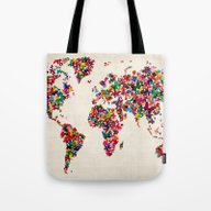 Butterflies Map Of The W… Tote Bag