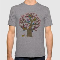 Tree Readers Mens Fitted Tee Athletic Grey SMALL