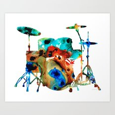 The Drums - Music Art By… Art Print