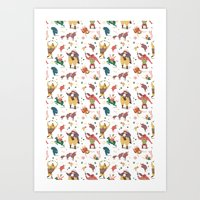 The Circus Is Coming To … Art Print
