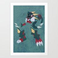 Gregar Beast Out Art Print