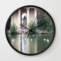 Reflection At Villa Borg… Wall Clock