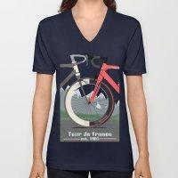 Tour De France Bicycle Unisex V-Neck