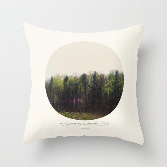 Dark Forest Throw Pillow