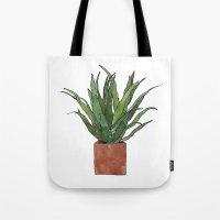 Aloe Vera - Watercolor Illustration Tote Bag