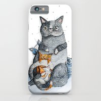 iPhone & iPod Case featuring Cat family by Nora Illustration