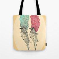 Bouffant Birds Tote Bag