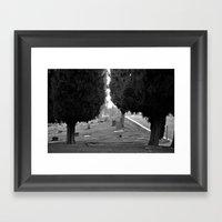 Headstone View Framed Art Print