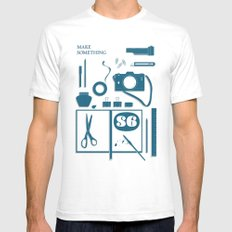 S6 tee SMALL Mens Fitted Tee White