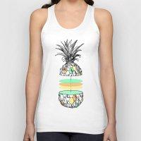 Sliced Pineapple Unisex Tank Top