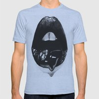 Ink Lips Mens Fitted Tee Athletic Blue SMALL