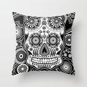 sugar skull Throw Pillow