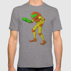 NES Tribute #3: Metroid Mens Fitted Tee Tri-Grey SMALL