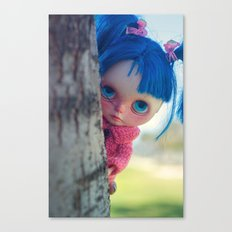 Little naughty girl Blythe Canvas Print