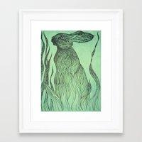 Hiding In The Green Framed Art Print