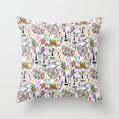 Day of the Dead Sugar Skull Pinatas Throw Pillow