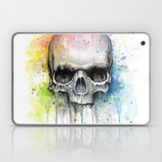 Skull Watercolor Painting Laptop & iPad Skin