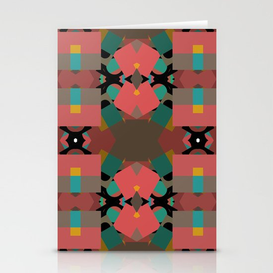 Geometic Crazy Mirror  Stationery Card