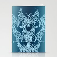 Indian Butterfly Enblem  Stationery Cards