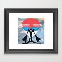 Man Power Framed Art Print