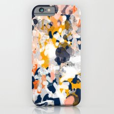 Stella - Abstract painting in modern fresh colors navy, orange, pink, cream, white, and gold iPhone 6 Slim Case