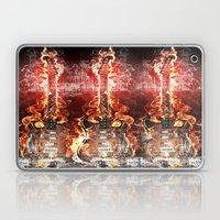 Brennende Gitarre Laptop & iPad Skin