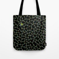 Blue/Green Dots In Black… Tote Bag