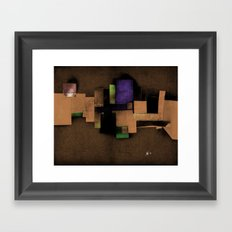 collage... Framed Art Print