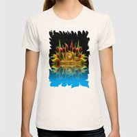 Lion And Flowers Womens Fitted Tee Natural SMALL