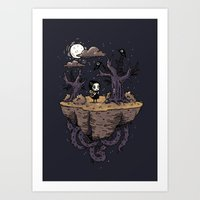 Dark Wood Art Print