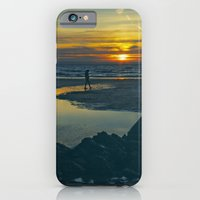 Walking At Sunset iPhone 6 Slim Case