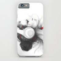 iPhone & iPod Case featuring MUSIC - pencil portrait girl in headphones by Olechka