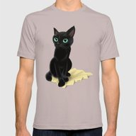 Black Little Kitty Mens Fitted Tee Cinder SMALL