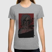 See No Evil Womens Fitted Tee Athletic Grey SMALL