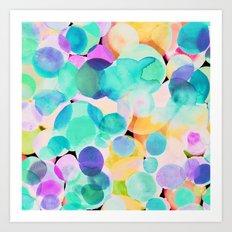 Polka Dot Ice Blue Art Print