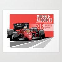 Michele Alboreto - 1985 … Art Print