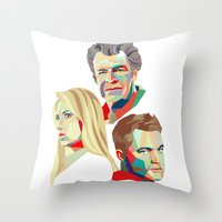 Walter, Peter, Olivia Throw Pillow