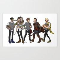 A Hogwarts AU Art Print