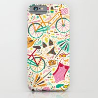 iPhone & iPod Case featuring Seaside Cycle by Anna Deegan