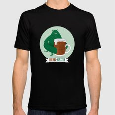 Beer Monster Mens Fitted Tee Black SMALL